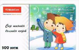 MONGOLIA - MOBICOM (GSM RECHARGE) - CHILDREN   - USED °  -  RIF. 8742 - Mongolia
