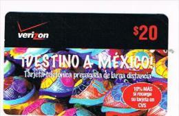 STATI UNITI (USA) - (REMOTE)   VERIZON     - IDESTINO  A  MEXICO   - MINT  -  RIF. 8749 - Sin Clasificación