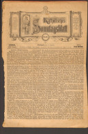 Katholisches Sonntagsblatt Von 1888 Nr.46 Aus Stuttgart (letzte Seite Fehlt) Auflage 34.000 Stück - Christianisme