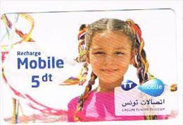 TUNISIA  -  TELECOM  (GSM RECHARGE) - GIRL     -  USED -  RIF. 8753 - Tunisia