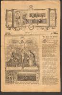 Katholisches Sonntagsblatt Von 1888 Nr. 47 Aus Stuttgart  Auflage 34.000 Stück - Christianisme