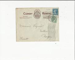 Enveloppe Timbrée  De Exp: Mr Clement Robert De Beziers 34 Adressé A Mr Viguier Notaire A Roujan 34 - Oblitérations Mécaniques (Autres)