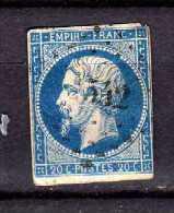 France Y&t N°14A  Oblitéré - 1853-1860 Napoléon III
