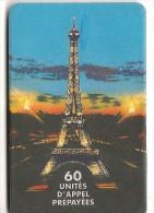 CARTE PREPAYEE-60U-WORLD PHONE-TOUR EIFFEL-R° Glacé-1/12/98-TBE - Autres Prépayées
