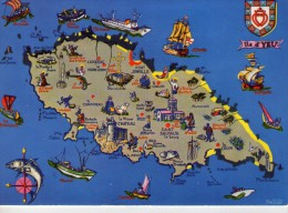 Ile D'Yeu.. Carte Géographique De L'Ile - Ile D'Yeu