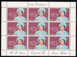 Cayman Islands MNH Scott #443 Sheet Of 9 20c Queen Mother - 80th Birthday - Iles Caïmans
