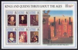 Cayman Islands MNH Scott #792 Souvenir Sheet Of 6 Henry VIII, Mary I, Charles II, Anne, George IV And V - London 2000 - Iles Caïmans