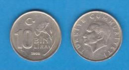 TURQUIA   10  BIN LIRA   1.998   CU NI ZN  KM#1027.1   MBC/VF   DL-10.979 - Turquia