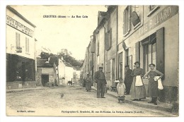 CROUTTES Dpt02 Au Bon Coin Beau Plan Animé Café Billard - Autres Communes