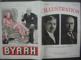 L'ILLUSTRATION 4793 LAVAL MUSSOLINI/ ILE CLIPPERTON/ ZAMBEZE/ YOUGOSLAVIE/  PLEBISCITE 12 Janvier 1935 - L'Illustration