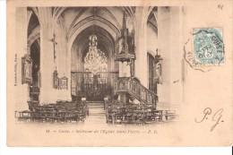 Guise (Vervins-Aisne)-1905-Intérieur De L'Eglise Saint-Pierre-Cachet Ambulant-Convoyeur - Guise