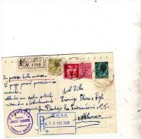 1958  CARTOLINA RACCOMANDATA ESPRESSO CON ANNULLO MAIERATO CATANZARO - 6. 1946-.. Republik