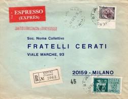 1973   LETTERA  ESPRESSO CON ANNULLO  NAPOLI VOMERO - 6. 1946-.. Republik