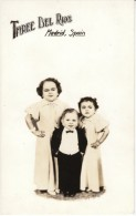Three Del Rios, Midgets From Madrid Spain, C1930s Vintage Real Photo Postcard - Other Famous People