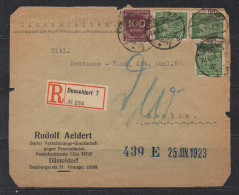 S220.-.GERMANY  REICH COVER -  DUSSELDORF 22-6-25   TO BERLIN . ARRIVAL CACHET ON BACK - Briefe U. Dokumente