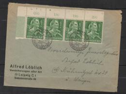 S222.-.GERMANY  REICH COVER -  MI # : 894 STRIP X 4 LEPIZIG 19-7-44. - Briefe U. Dokumente