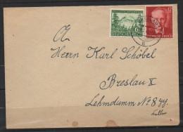 S224.-.GERMANY  REICH COVER - MI # : 855,856.-.  BRESLAU 28-7-43. LOCAL USE - Briefe U. Dokumente