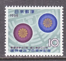 JAPAN   851  *  WOMANS SUFFRAGE - Unused Stamps