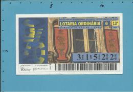 LOTARIA ORDINÁRIA - 13.ª ORD. - 28.03.1996 - AVEIRO - BEIRA LITORAL - Portugal - 2 Scans E Description - Lottery Tickets