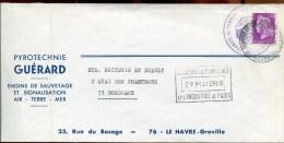 72160 - enveloppe GREVE POSTALE mai 1968 LE HAVRE TTB