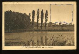 Seine Et Marne 77 Croissy Beaubourg Le Château 1952 ALAIN Stylo Sur La Vue - Francia