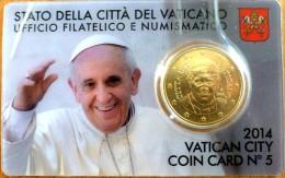 VATICAN CITY 2014. COIN CARD Nº 5. 2 EURO. POPE FRANCESCO - Vaticano (Ciudad Del)