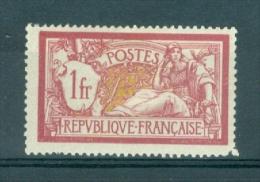 FRANCE - Yv. Nr 121 - Type Merson - MH* (hoektand Beschadigd/1 Dent Abimé) - Cote 31,00 € - 1900-27 Merson