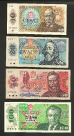 [NC] CZECHOSLOVAKIA - 10 / 20 / 50 / 100 KORUN (1986, 1988, 1987, 1989) - LOT Of 4 DIFFERENT BANKNOTES - Tchécoslovaquie