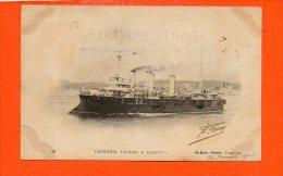 Bateaux - CASSARD , Croiseur à BARBETTE - TOULON - Guerre