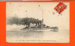 Bateaux - Voltaire - Cuirassé D'Escadreà Turbines - Marine Militaire Française - Guerre