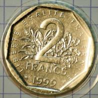 2 FRANCS SEMEUSE 1999 BRILLANT UNIVERSEL (SCELLE)