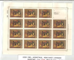 Russia/USSR 1985 ,Miniature Sheet Hermitage,Spanish Paintings,Sc 5336,MNH** - Unused Stamps