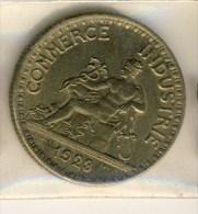 PIECE MONNAIE III REPUBLIQUE 2F 1923 # CHAMBRE DE COMMERCE # TYPE DOMARD