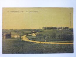 VILLECRESNES  (Val-de-Marne)  :  Vue Prise De  Cercay  -  Carte Couleur  1915 - Villecresnes