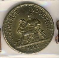 PIECE MONNAIE III REPUBLIQUE 2F 1921 # CHAMBRE DE COMMERCE # TYPE DOMARD #