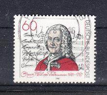 Germania    -   1981.  G.Philipp  Teleman Compositore . Composer  ( 1681-1767 ) - Muziek