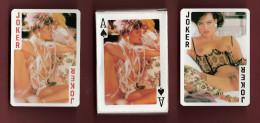 * Jeu de 54 cartes � jouer : Femmes nues en poses tr�s os�es  : Voir les 5 scans