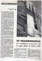 Reconstruction  Et Modernisation  Des Installations Ferrovieres   De Lille De   1945 A 1958 Train  Gare - Chemin De Fer