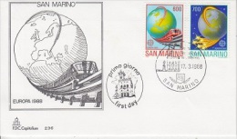 Europa Cept 1988 San Marino 2v FDC (F791) - 1988