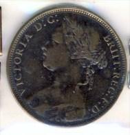 MONNAIE ANGLAISE   VICTORIA  BUSTE  JEUNE # PENNY 1881 - 1816-1901 : Frappes XIX° S.