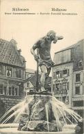 MULHOUSE. IL MONUMENTO DELLA FONTANA MONUMENTALE. CARTOLINA ANNI '20 - '30 - Mulhouse