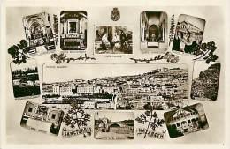 VARIE IMMAGINI DEI SANTUARI DI NAZARETH. CARTOLINA ANNI '40 - Israel
