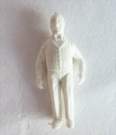 FIGURINE PUBLICITAIRE STENVAL TINTIN 01 monochrome Blanc - pas dunkin - herg�