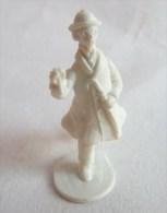 FIGURINE PUBLICITAIRE STENVAL TINTIN 02 Monochrome Blanc - Pas Dunkin - Hergé PROFESSEUR TOURNESOL - Tintin