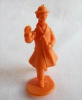 FIGURINE PUBLICITAIRE STENVAL TINTIN 19 monochrome Orange - pas dunkin - herg�