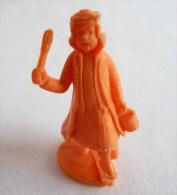 FIGURINE PUBLICITAIRE STENVAL TINTIN 22 monochrome Orange - pas dunkin - herg�