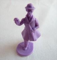 FIGURINE PUBLICITAIRE STENVAL TINTIN 26 monochrome Violet - pas dunkin - herg�