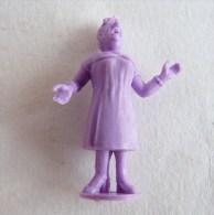 FIGURINE PUBLICITAIRE STENVAL TINTIN 30 monochrome Violet - pas dunkin - herg�