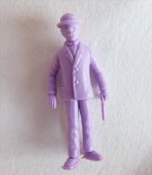 FIGURINE PUBLICITAIRE STENVAL TINTIN 31 monochrome Violet - pas dunkin - herg�