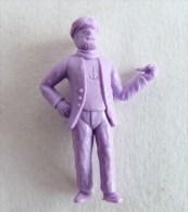 FIGURINE PUBLICITAIRE STENVAL TINTIN 35 monochrome Violet - pas dunkin - herg�
